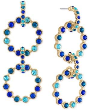 Rachel Roy Gold-Tone Pave Multi-Circle Statement Earrings