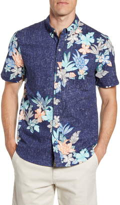 Reyn Spooner South Pacific Garlands Tailored Fit Short Sleeve Button-Down Shirt