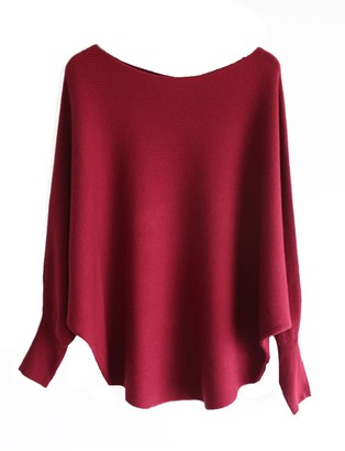 Goodnight Macaroon 'Michelle' Boat Neck Batwing Dolman Sleeves Sweater (9 Colors)