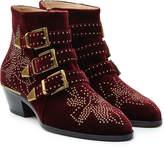 Chloé Studded Susanna Suede Ankle Boots