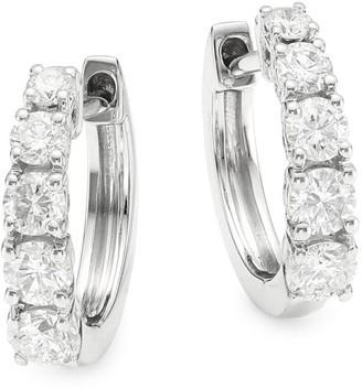 Anita Ko 18K White Gold & Diamond Graduated Huggie Earrings