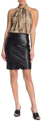 Fifteen-Twenty Leather Contrast Skirt