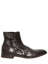 Alexander McQueen Belted Leather Low Boots