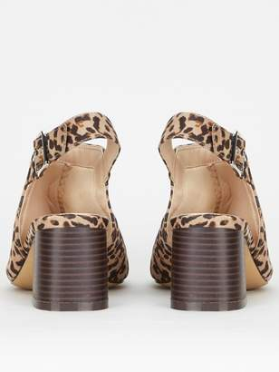 Evans Extra Wide Fit High Front Sandals - Animal Print