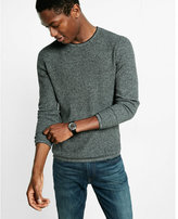 Express tipped crew neck sweater
