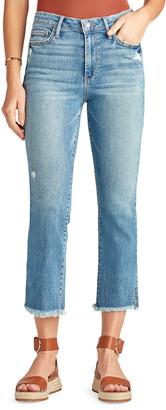 Sam Edelman The Stiletto Distressed Fray Hem Crop Bootcut Jeans
