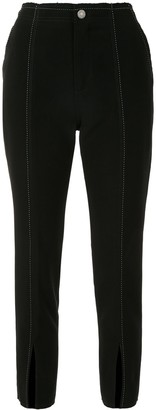 PortsPURE Contrast-Stitch Slit Trousers