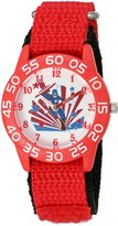Marvel Boy's 'Civil War' Quartz Plastic and Nylon Automatic Watch, Color: (Model: W003115)
