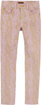 7 For All Mankind The Skinny' fit light pink and gold trousers