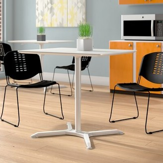 """Luxor Adjustable Height Square Cafe Table Size: 42"""" H x 36"""" W x 28"""" D"""