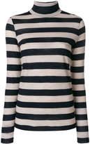 Closed striped roll neck jumper