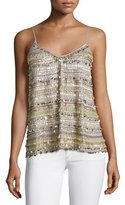 Calypso Lovette Embellished Tank, Pearl Gray