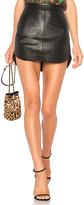 BB Dakota Conrad Leather Skirt in Black. - size 6 (also in )