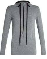 Falke Seamless long-sleeved hooded performance top