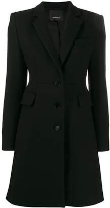 Pinko slim-fit tailored coat