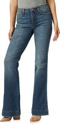 Wrangler Women's Retro Premium Five Pocket High Rise Trouser Jean
