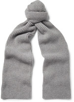 Lanvin Ribbed Cashmere Scarf