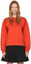 Victoria Victoria Beckham Red Heritage Sweatshirt