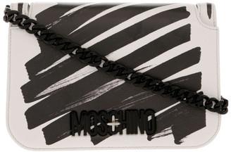 Moschino Highlighter Flap Over Shoulder Bag