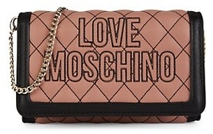 Love Moschino Quilted Faux Leather Chain Wallet