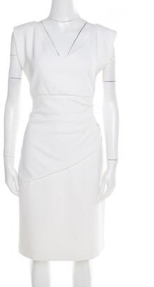 Diane von Furstenberg Off White Sleeveless Bevin Sheath Dress M