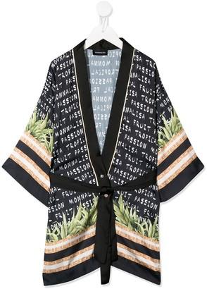MonnaLisa Mixed-Print Robe