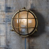 Graham and Green Devonport Round Brass Bulk Head Light
