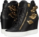 Giuseppe Zanotti Hi-Top Wedge Winged Sneaker Women's Wedge Shoes