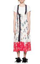Dondup White Rigel Silk Dress