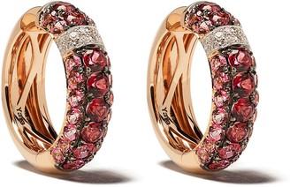 Brumani 18kt gold diamond Yara hoop earrings