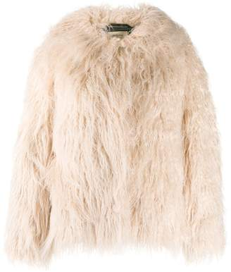 Bellerose oversized faux-fur jacket