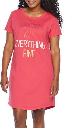 Asstd National Brand Mommy & Me Womens Round Neck Short Sleeve Nightshirt