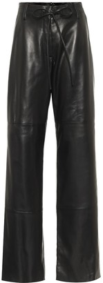 Tom Ford High-rise wide-leg leather pants