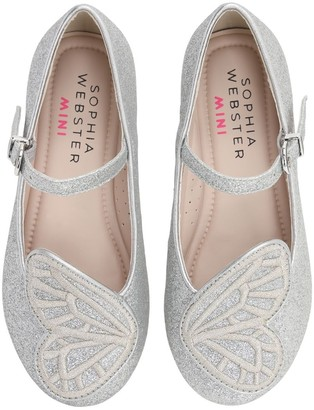 Sophia Webster Bibi Glittered Butterfly Ballerinas