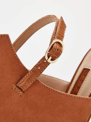 Office Honeybee Sling Back Shoe Boot - Caramel