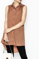 MinkPink Dotted Tunic Dress