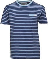 Ben Sherman Boys Multi Stripe Jersey T-Shirt Washed Blue