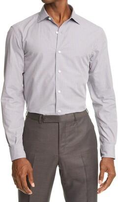 Ermenegildo Zegna Microcheck Cotton Button-Up Shirt