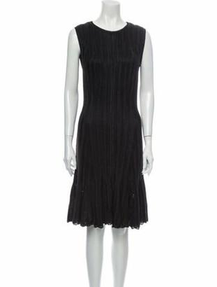 Alexander McQueen Scoop Neck Knee-Length Dress w/ Tags Brown