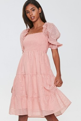 Forever 21 Netted Fit Flare Dress