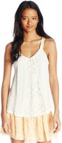 Jolt Women's Tonal Lace Swing Tank