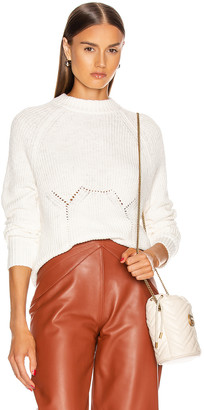 GRLFRND Shawna Sweater in White | FWRD