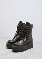 Junya Watanabe Black Platform Laceup Ankle Boot