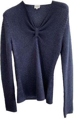 Armani Collezioni Blue Wool Knitwear for Women