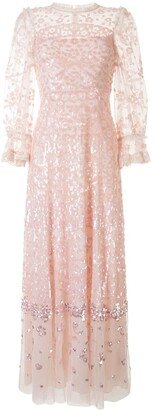 Needle & Thread Sequin Embellished Tulle Long Dress