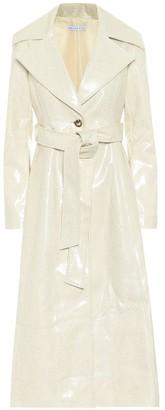 REJINA PYO Rhea laminated wool trench coat
