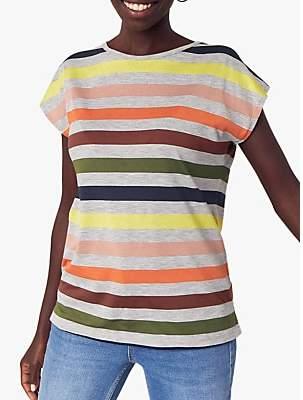 Oasis Rainbow Stripe T-Shirt, Multi