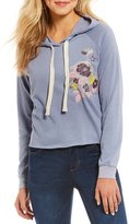 Living Doll Floral-Embroidered Hoodie Sweatshirt