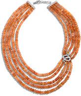 John Hardy Cobra Bead Necklace with Peach Moonstone