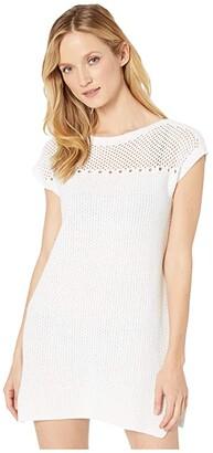 Tommy Bahama Beach Sweaters Tunic Cover-Up (White) Women's Swimwear